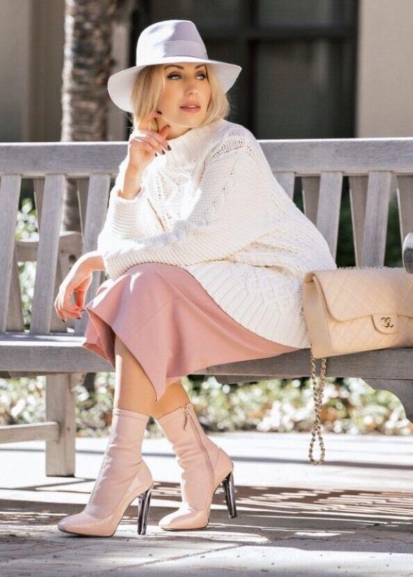 Alexander McQueen Plexi Prespex Pale Pink Heel Patent Leather 5/35 Booties 1490
