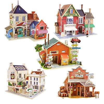 3d Puzzle Legno Giocattolo In Costruzione Casa Modellismo Bambini 6 + Regalo Gamma Completa Di Articoli