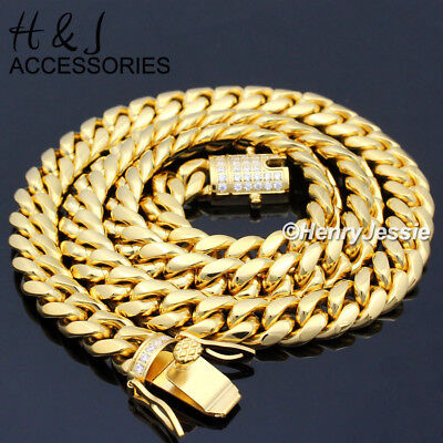 """18-40/""""MEN Stainless Steel 6mm Gold//Silver Cuban Curb Chain Necklace Pendant*GP50"""