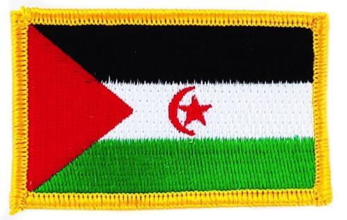 Patch écusson brodé Drapeau  Sahara occidental flag Thermocollant Insigne Blason