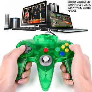 Details about Green Wired N64 USB Controller Game Pad for Windows PC MAC  Linux Raspberry Pi 3