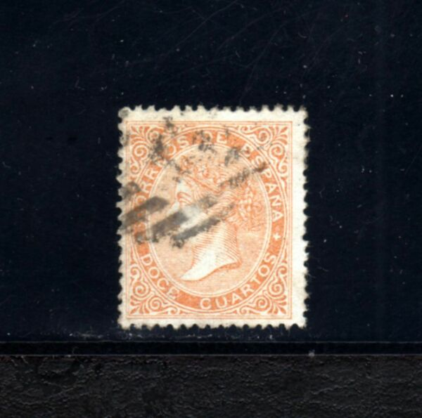 1399-espaÑa-spain-espagne-1867.isabel Ii.edifil Nº 89a.12 Cuartos.used-usado