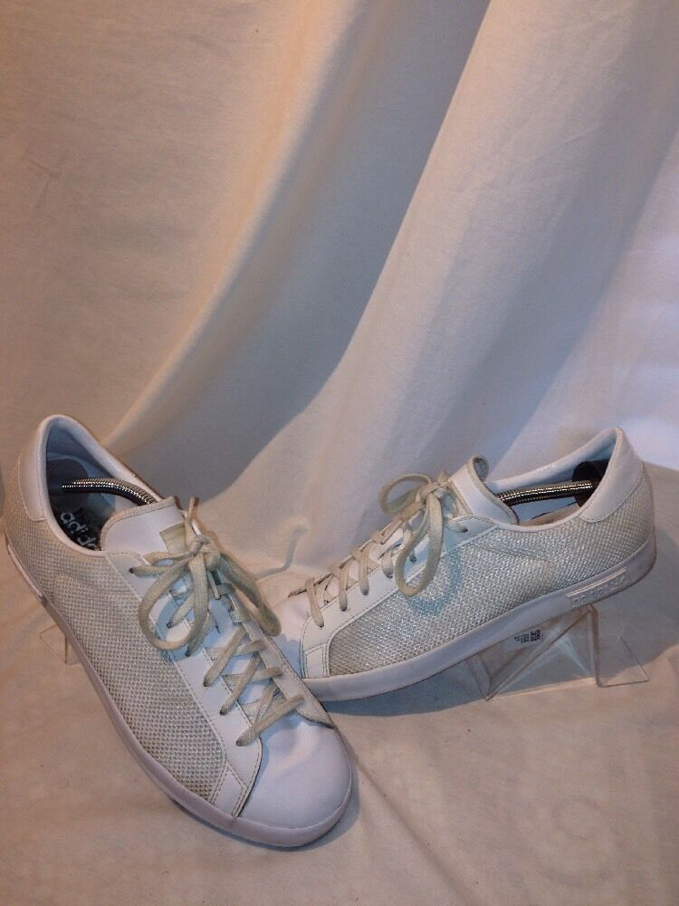 Adidas Mesh Canvas White Mens Trainers Ref Ju01 Comfortable and good-looking