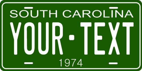 South Carolina 1974 License Plate Personalized Custom Car Bike Motorcycle Moped