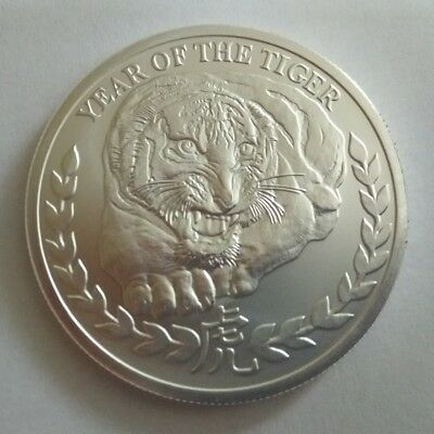 SOMALILAND 1000 SHILLINGS 2010 LUNAR YEAR OF THE TIGER 1 OZ .999 SILVER Somalia