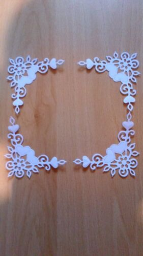 1 set free Sweet Dixie die cut  Heart Corners