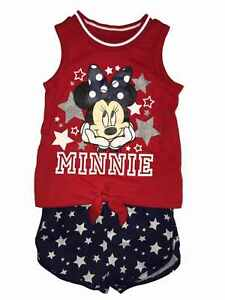 e00e1c6b5 Disney Toddler Girls Minnie Mouse Baby Outfit Tie Front Shirt & Star ...