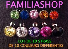 10 STRASS BOUCHON PRISE JACK IPHONE 4S 5 GALAXY S2 S3 ANTI POUSSIERE
