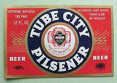 Tube City Bock Beer IRTP Bottle Label McKeesport Pa