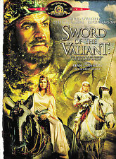 SWORD OF THE VALIANT DVD SEAN CONNERY-MILES O'KEEFE-P.CUSHING-C.CLAIRE W/S HTF