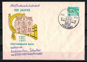 DDR-R-d-a-Sou-100-Annees-Postgebaeude-Suhl-Minr-2484-Sst-Suhl-01-03-1987