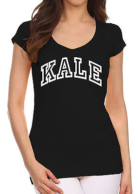 Junior/'s KALE Black Racerback Tank Top Health Fitness Athletic Workout Gym Tee