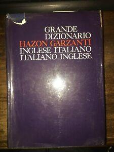 GRANDE-DIZIONARIO-HAZON-GARZANTI-INGLESE-ITALIANO-ITALIANO-INGLESE