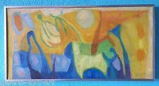 Paul SZASZ (1912-1969) Tableau HST Huile sur toile 1968 Ecole Hongroise Abstrait