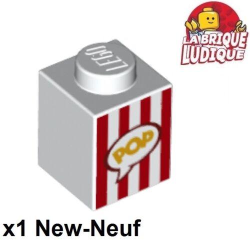 Lego 1x Brick decorated brique sachet boite paquet POP box popcorn 3005pb028 NEW