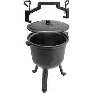 Cast Iron 7 liters /'Hunting/' Pot  P/&P UK Outdoor Camping 7L Cookware Cooking