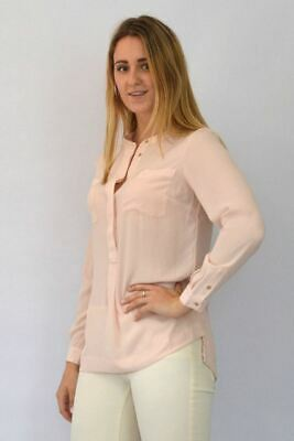 M/&S Marks and Spencer Pale Pink Curved Hem Tunic Blouse TopSALEWas £28