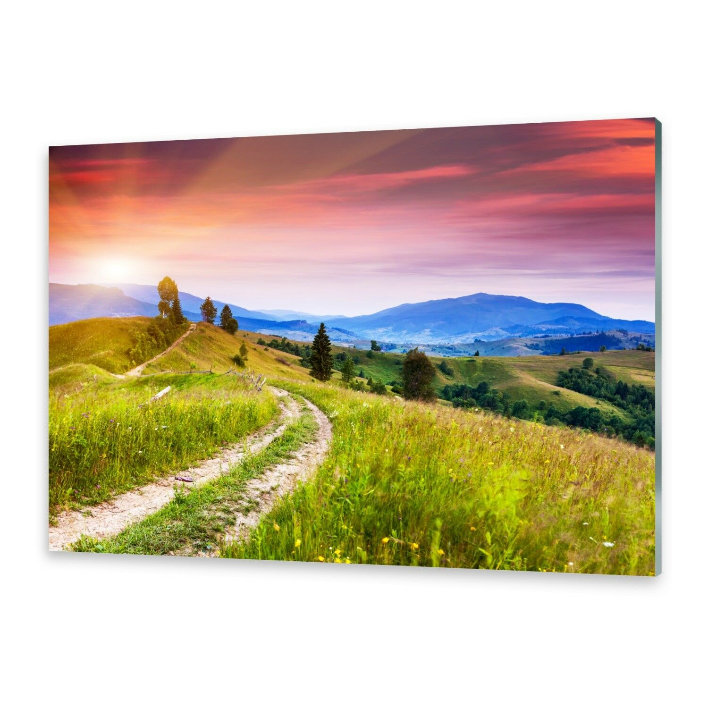Vetro acrilico immagini Muro Immagine da plexiglas ® IMMAGINE FIORI-collina