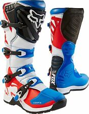 2017 Fox Racing Youth Comp 5Y Special Edition Motocross Boots Blue Red Size 3