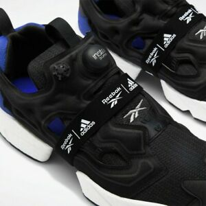 "Adidas X REEBOK PUMP Boost ""FURY"" Taille UK 4.5 US 5.5 RARE Noir"