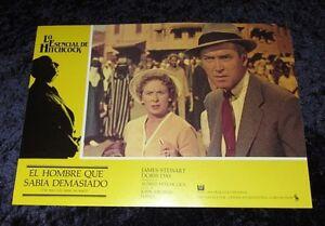 L'uomo che sapeva troppo LOBBY CARD # 11-Alfred Hitchcock, James Stewart