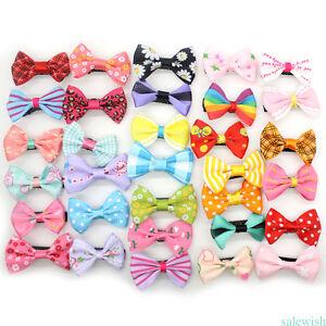 Wholesale-10pcs-Assorted-Hair-Clips-Snaps-Ribbon-Bow-Girls-Kids-Baby-Handmade-CN