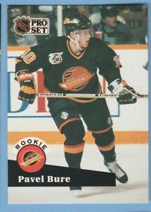 1991-92-Pro-Set-564-Pavel-Bure-Vancouver-Canucks-Rookie-Card-RC-Hockey-Card