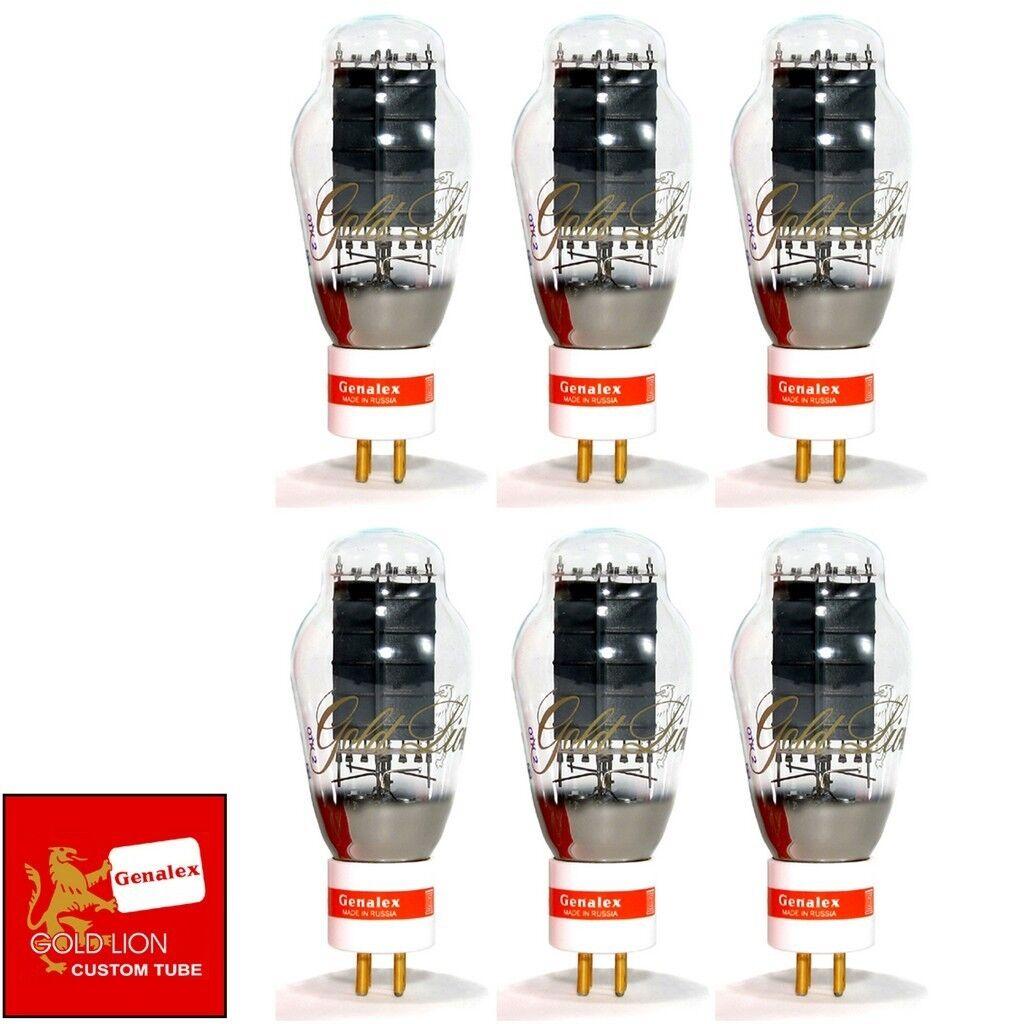 Neu Genalex Reissue 300B PX300B guld Pin Passender Sextet (6) Vakuum Rohre