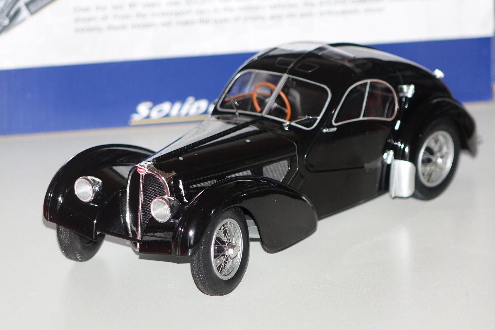 Bugatti Type Type Type 57 SC Atlantic noir 1 18 Solido 1802101 NOUVEAU & NEUF dans sa boîte 50ea00