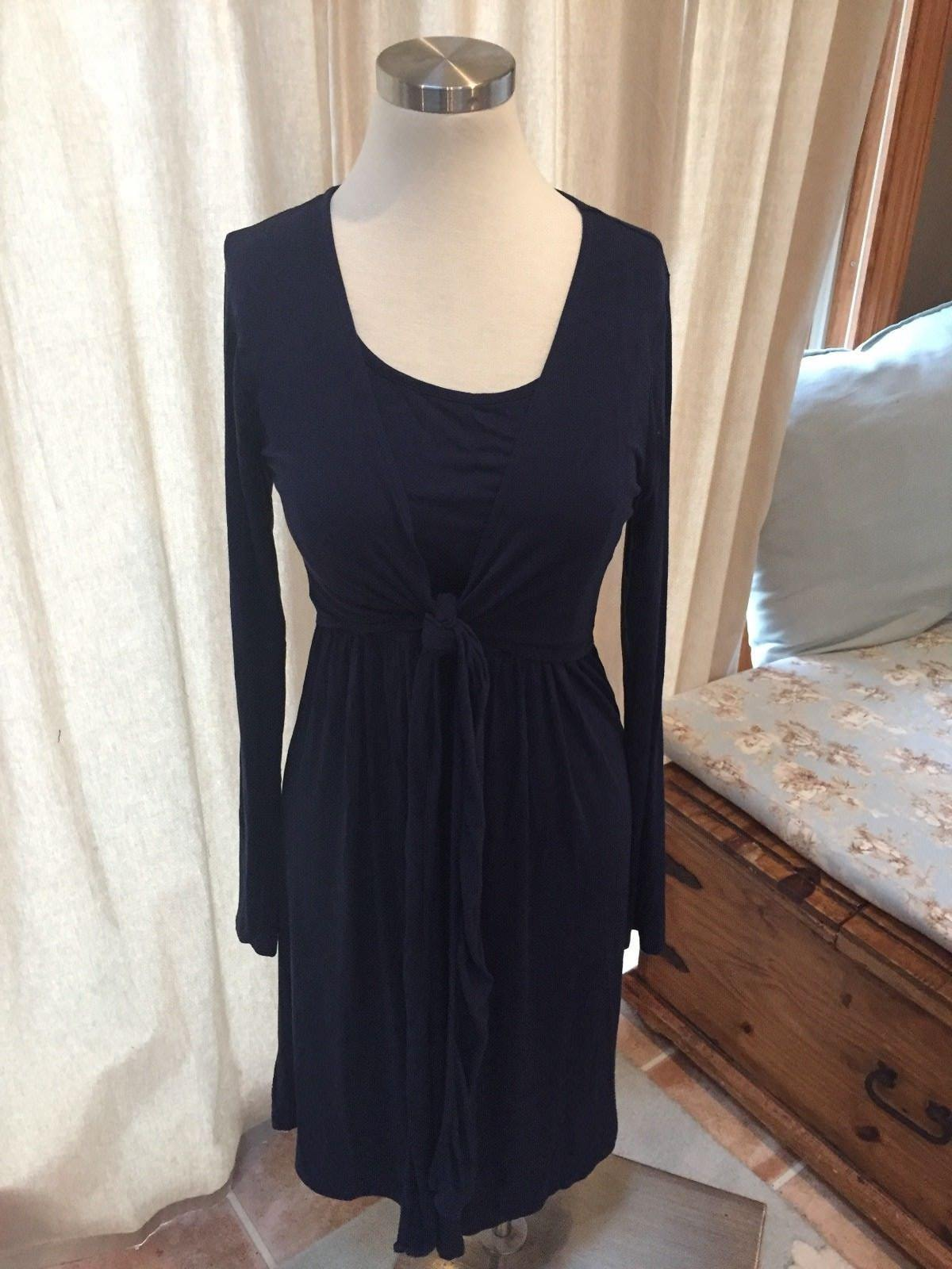 NEW JoJo Maman Bebe Navy bluee Maternity Nursing Dress Stretch M