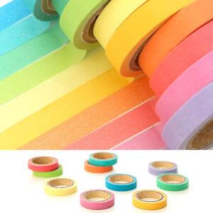 10-x-Washi-Tape-Set-Masking-Tape-Scrapbook-Decorative-Paper-Adhesive-Sticker-DIY