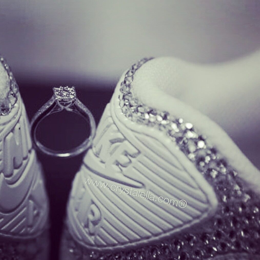 Crystal Nike Wedding shoes covered in Certified Swarovski Crystals - Bride, Mrs