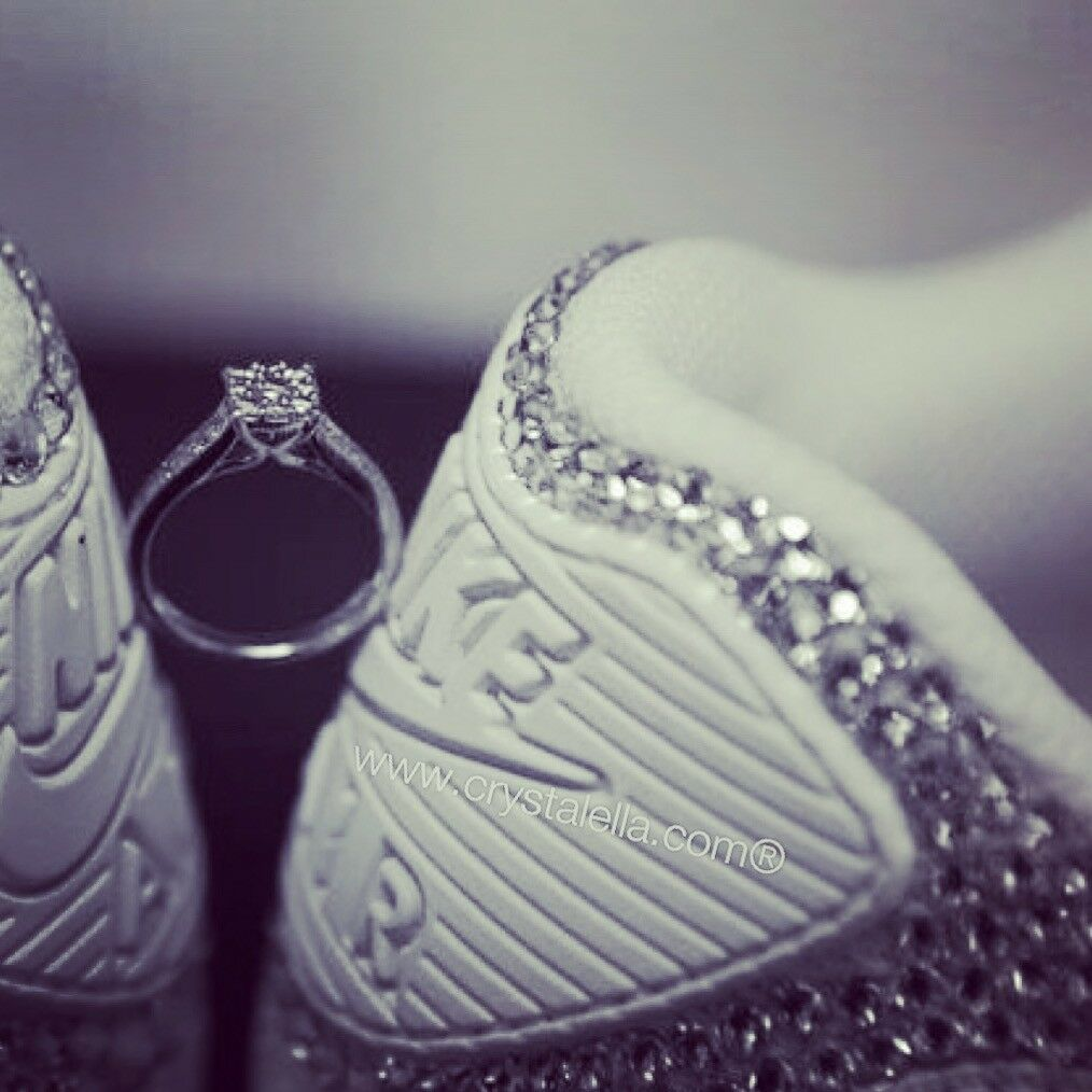 Crystal scarpe da SWAROVSKI Nike ricoperta di cristalli SWAROVSKI da certificati-sposa, SIGNORA 2c24c7