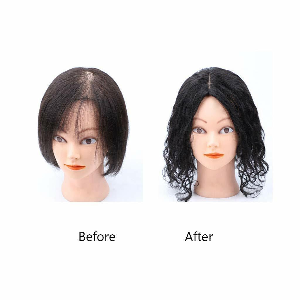 Image 2 - Women-Curly-Real-Human-Hair-Middle-Silk-Base-Topper-Wiglet-Top-For-Loss-Hair