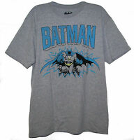 Official Licensed Batman DC Comics Gray L T-Shirt BNWT Dark Knight Movie Retro