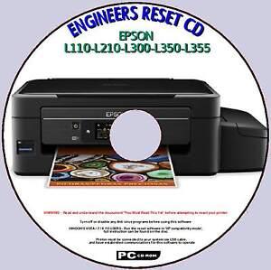 Details about EPSON L110 L210 L300 L350, L355 WASTE INK PAD COUNTER FIX  ENGINEERS RESET PCCD