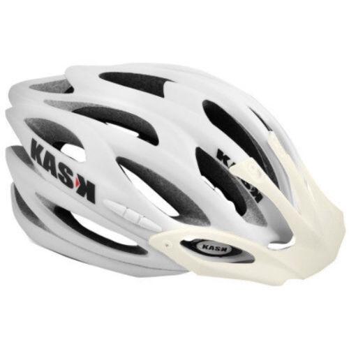 Kask K.10 Bicicleta de montaña abajo Hill Casco Mate blancoa Plana ajuste ajustable (53-61) CPSC
