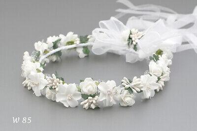 W 86 flower crown First Holy Communion  hair wreath wianek komunijny hair band