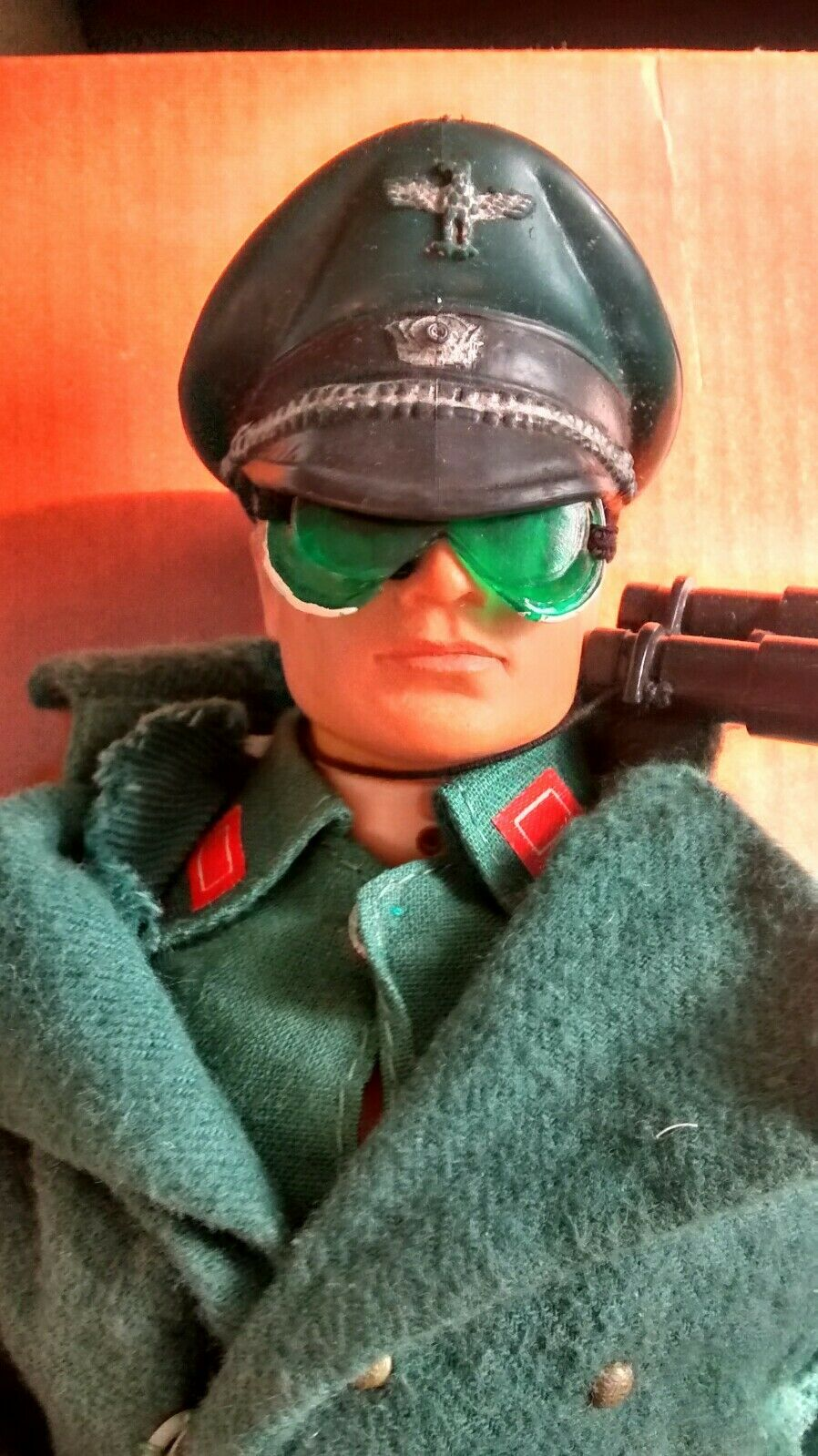 Vintage Action Man - FUZZY HEAD   German Camp Kommandant Officer