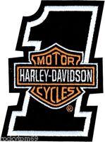 Harley Davidson  1 Bar & Shield  Emblem Patch 2x 2 5/8 Emb035062