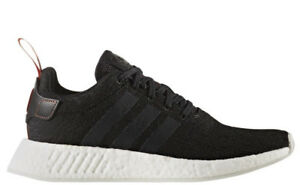 New-Men-039-s-ADIDAS-ORIGINALS-NMD-R2-CG3384-Black-White-Sneaker