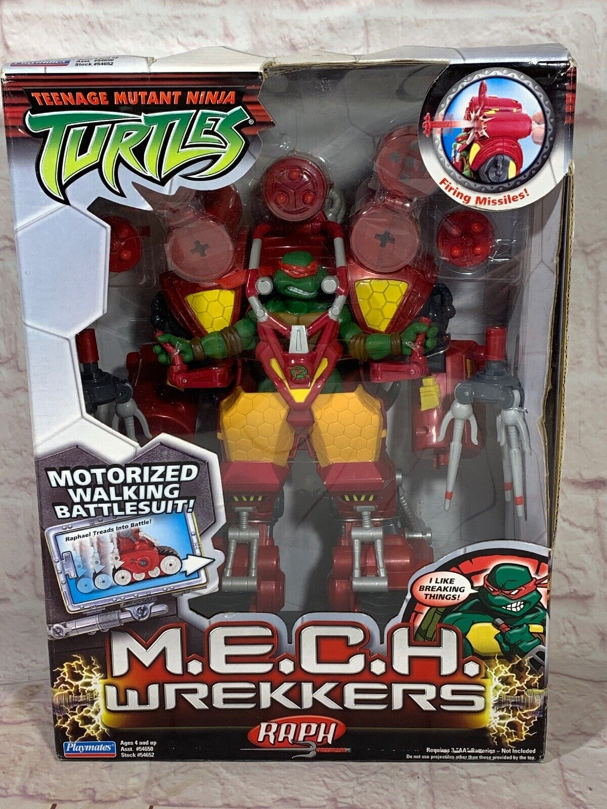 2005 TMNT M.E.C.H Wrekkers Raph Action Figure New In Package By Playmates