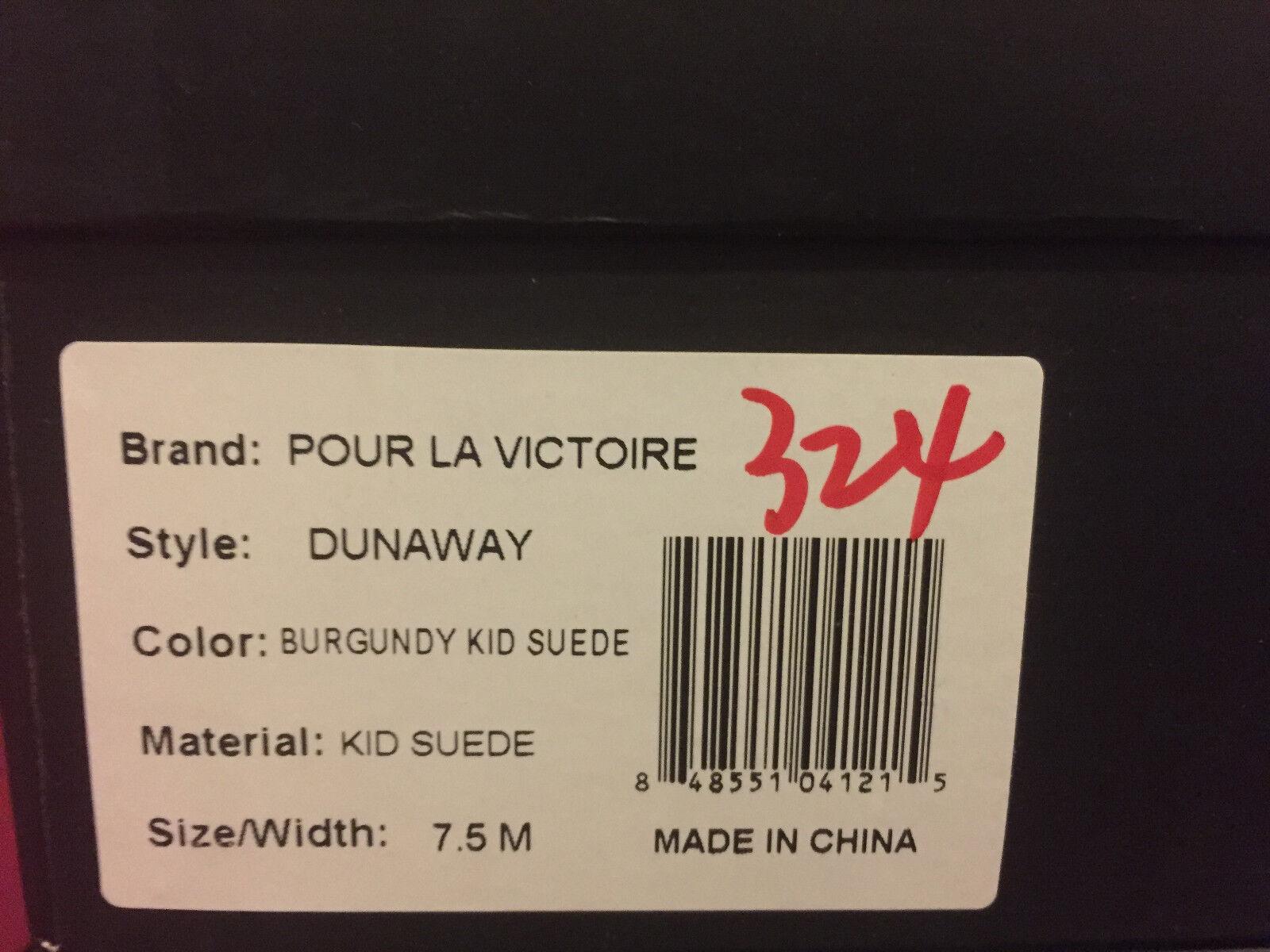 NIB Pour La Victoire Dunaway BURGUNDY KID SUEDE Pump 7.5 7.5 7.5 8 8.5 ea06ae