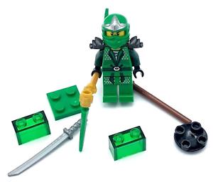 LEGO-LLOYD-ZX-NINJAGO-GREEN-NINJA-MINIFIG-MINIFIGURE-NEW-WITH-SWORDS-MORE