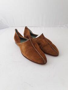 37 Cuir Size Henry Suede Shoes Flat 5 Brown xwvYq1KYa7