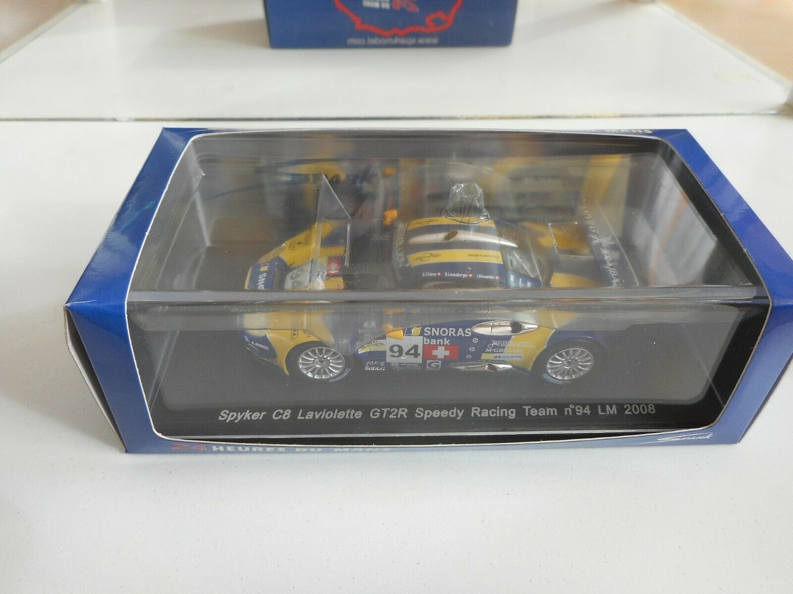 Spark Spyker C8 GT2R Speedy Le Mans 2008 in giallo blu on 1 43 in Box
