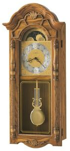 Howard-Miller-620-184-Rothwell-Traditional-Oak-Chiming-Wall-Clock-620184