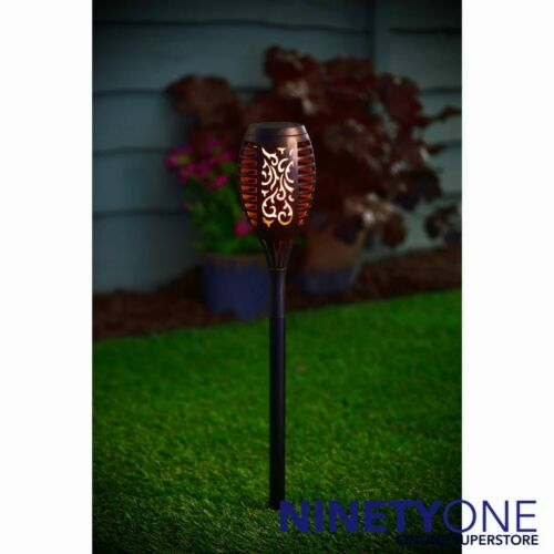 Moroccan Solar Post LED Flameless Candle Light Stake Ground Path Lighting Drive