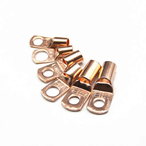 240PCS Assorted Car Auto Copper Ring Lug Terminals Wire Bare Crimp Connectors