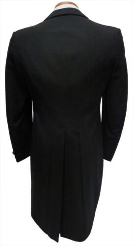 41L Black Peak Lapel Tuxedo Tailcoat Package Debutante Tails White Tie Attire
